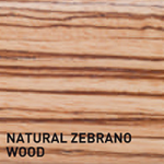 Natural Zebrano Wood